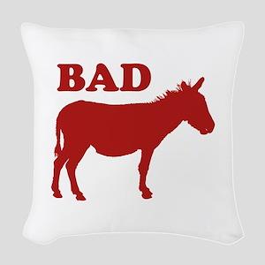 Badass Woven Throw Pillow