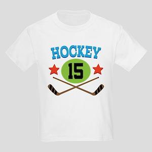 Hockey Player Number 15 Kids Light T-Shirt