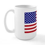 Left-Handed USA Flag Large Mug