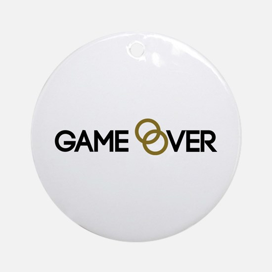Game over Wedding rings Ornament (Round)