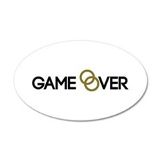 Game over Wedding rings Wall Decal