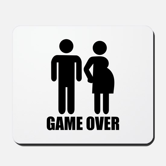 Game over Pregnancy Mousepad