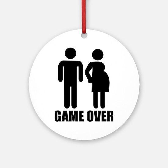 Game over Pregnancy Ornament (Round)