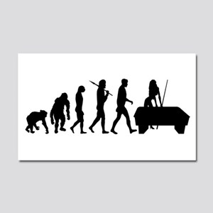 Billiards Evolution Car Magnet 20 X 12