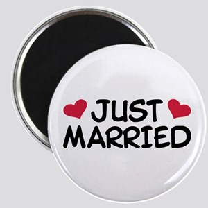 Just Married Wedding Magnet