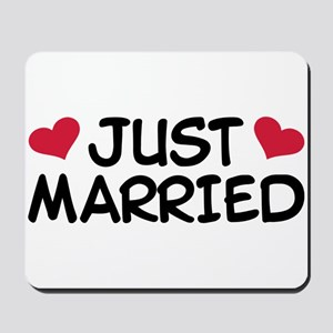 Just Married Wedding Mousepad