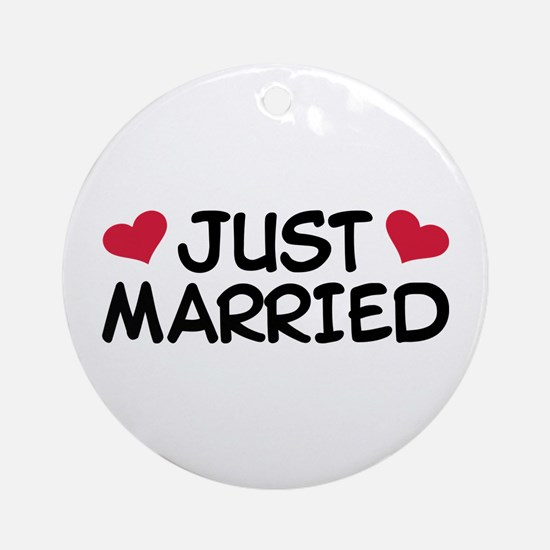 Just Married Wedding Ornament (Round)