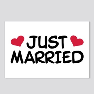 Just Married Wedding Postcards (Package of 8)