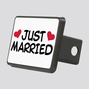 Just Married Wedding Rectangular Hitch Cover