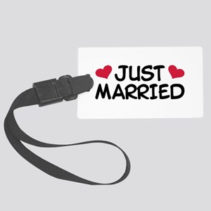 Just Married Wedding Large Luggage Tag