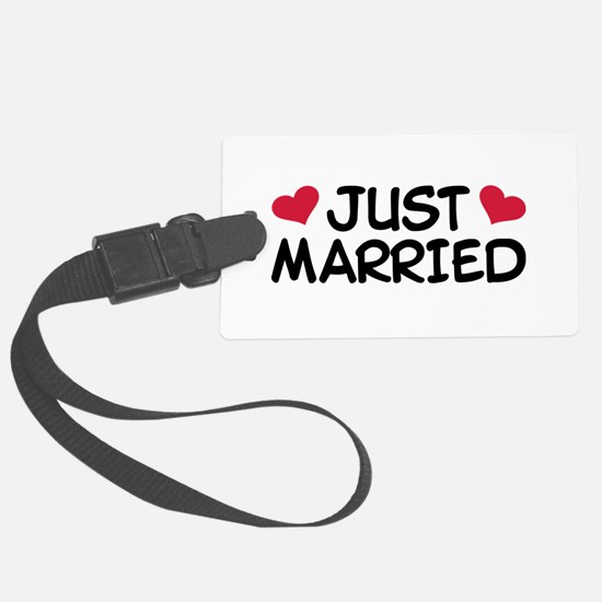 Just Married Wedding Luggage Tag