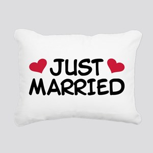 Just Married Wedding Rectangular Canvas Pillow