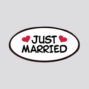 Just Married Wedding Patches