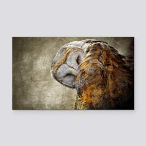Barn Owl Rectangle Car Magnet