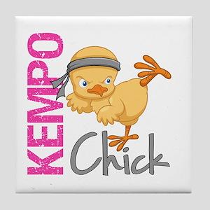 Kempo Chick 2 Tile Coaster