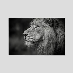 Asiatic Lion Rectangle Magnet