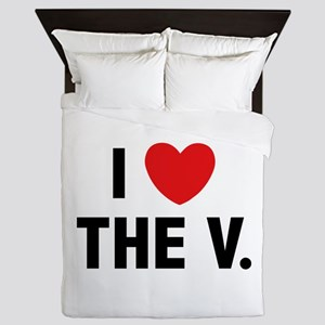 I Love The V. Queen Duvet