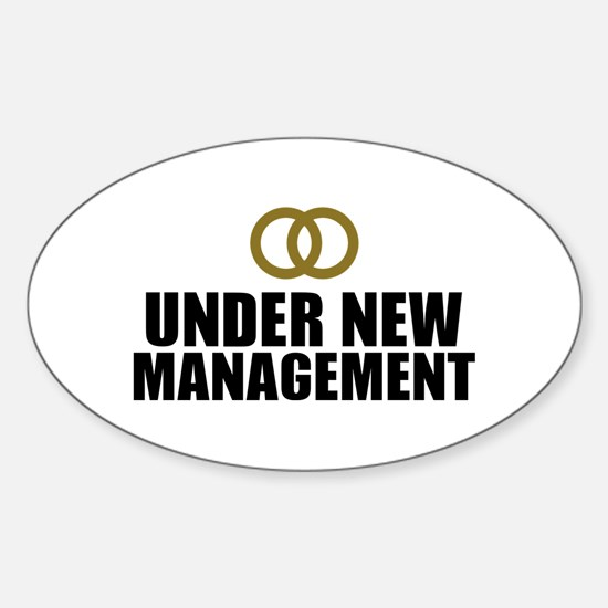 Under New Management Wedding Sticker (Oval)