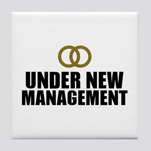 Under New Management Wedding Tile Coaster
