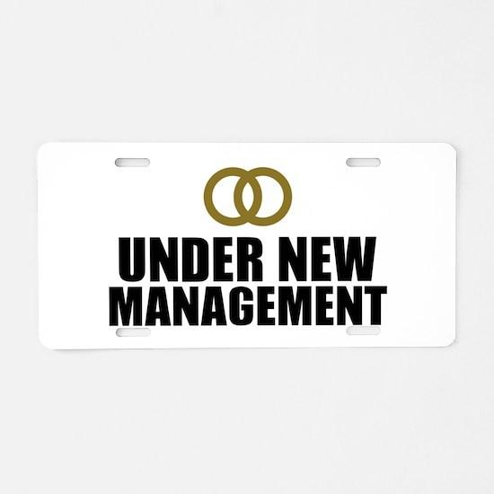 Under New Management Wedding Aluminum License Plat