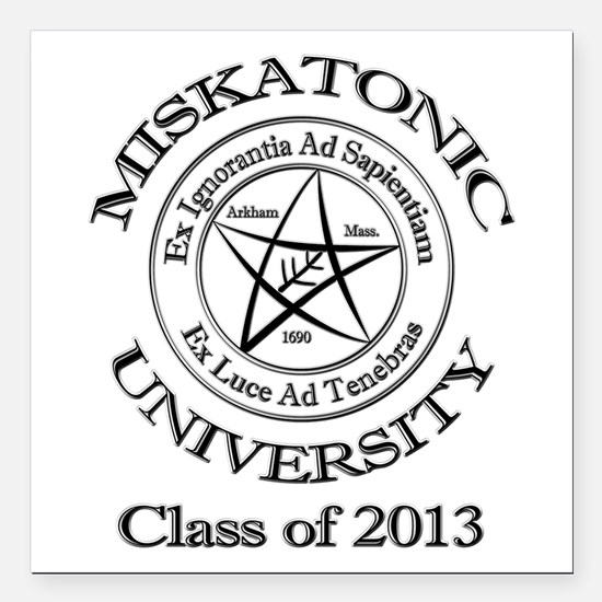 """Class of 2013 Square Car Magnet 3"""" x 3"""""""