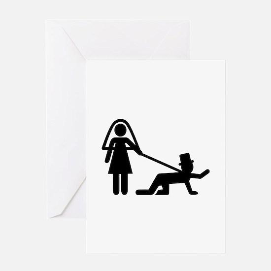 Bachelor party Wedding slave Greeting Card