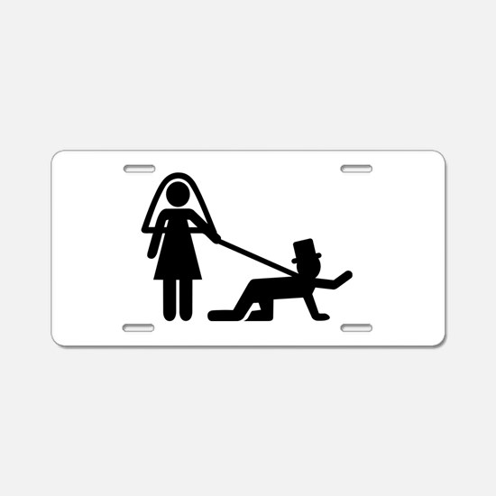 Bachelor party Wedding slave Aluminum License Plat