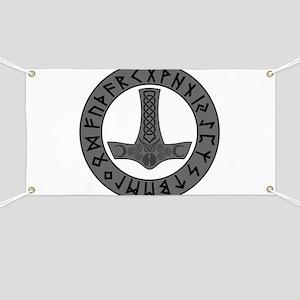 Mjölnir Rune Shield Banner