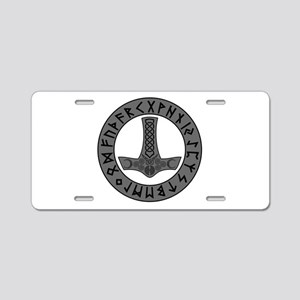 Mjölnir Rune Shield Aluminum License Plate