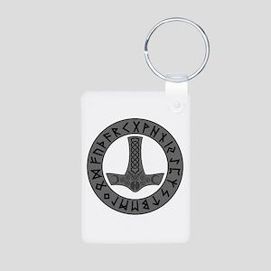 Mjölnir Rune Shield Keychains