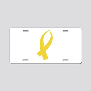Awareness Ribbon (Gold) Aluminum License Plate