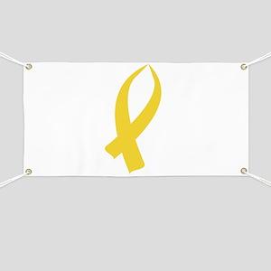 Awareness Ribbon (Gold) Banner
