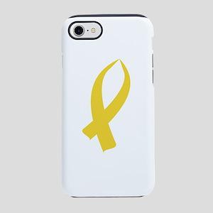 Awareness Ribbon (Gold) iPhone 7 Tough Case