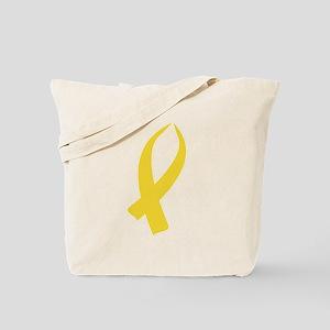 Awareness Ribbon (Gold) Tote Bag