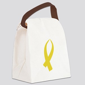 Awareness Ribbon (Gold) Canvas Lunch Bag