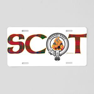 Grant Clan Aluminum License Plate
