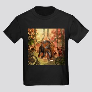Steamounk, steampunk elephant with clocks and gear