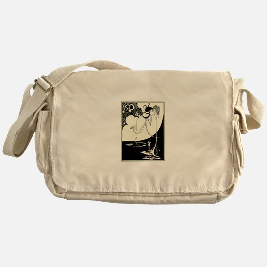 """The Climax' by Aubrey Beardsley Messenger Bag"