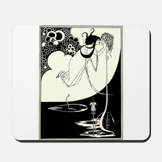 """The Climax' by Aubrey Beardsley Mousepad"