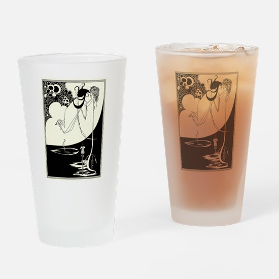 """The Climax' by Aubrey Beardsley Drinking Glass"