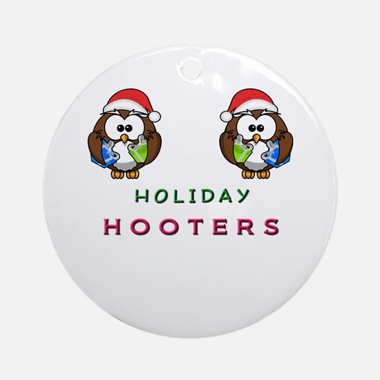 Holiday Hooters Ornament (Round)