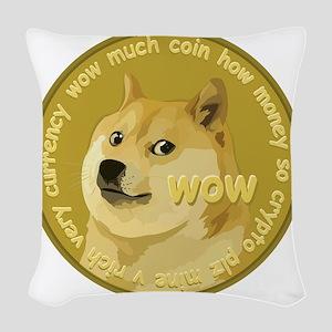 OFFICIAL DOGECOIN Woven Throw Pillow