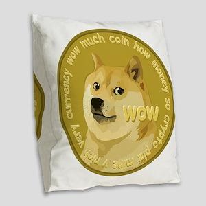 OFFICIAL DOGECOIN Burlap Throw Pillow