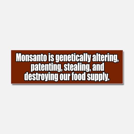 Funny Monsanto Car Magnet 10 x 3