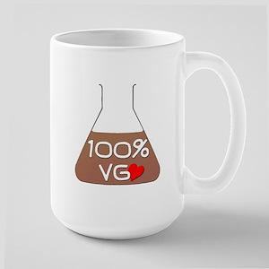 I love 100% VG e-juice Large Mug