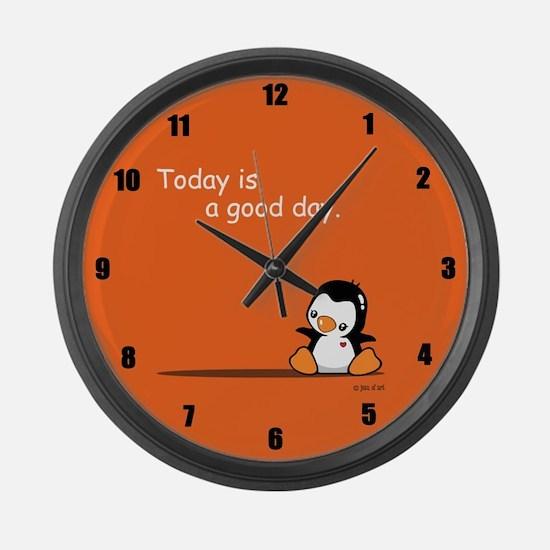Cute Penguin Large Wall Clock