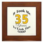 35 Years Old Framed Tile