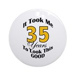 35 Years Old Ornament (Round)