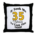 35 Years Old Throw Pillow