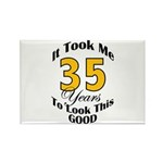 35 Years Old Rectangle Magnet (10 pack)